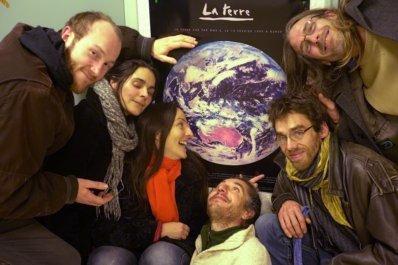 L'équipe radio de Vivre en Comminges après l'émission de janvier 2018 Studio de Radio Coteaux